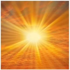 Solens-stråler
